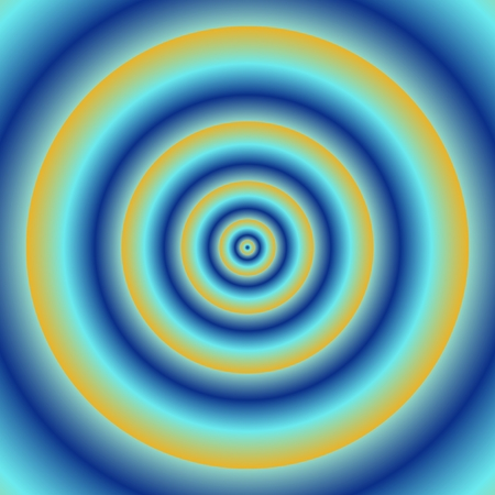 rounds: Abstract background with blue orange concentric rounds
