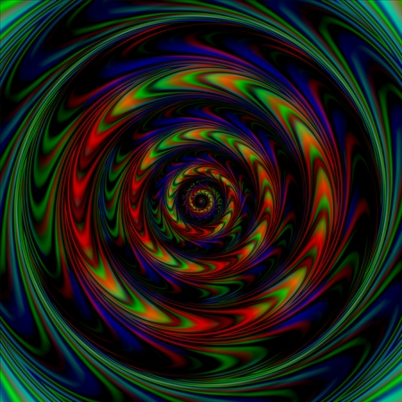 spiritual beings: Background with a pattern of concentric circles with the illusion of rotation