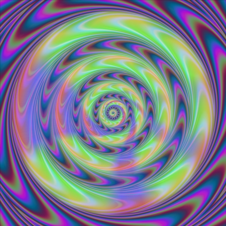 spiritual beings: Concentric rounds with movement illusion - abstract pattern in op art style