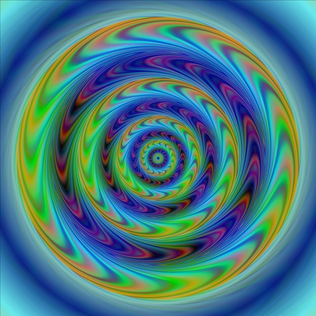 spiritual beings: Abstract colorful disc with gyratory movement illusion effect Stock Photo