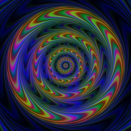 Concentric circles with arrows creating the illusion of slow motion