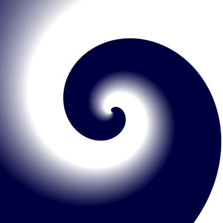passions: Simple white and dark blue spiral pattern
