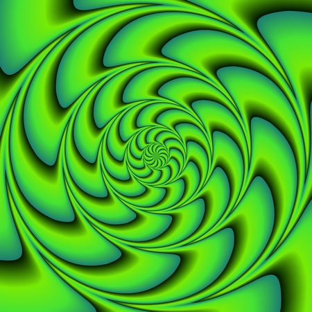 tonality: Green shades Composed with spiral movement illusion effect - Usable as square or cover design element