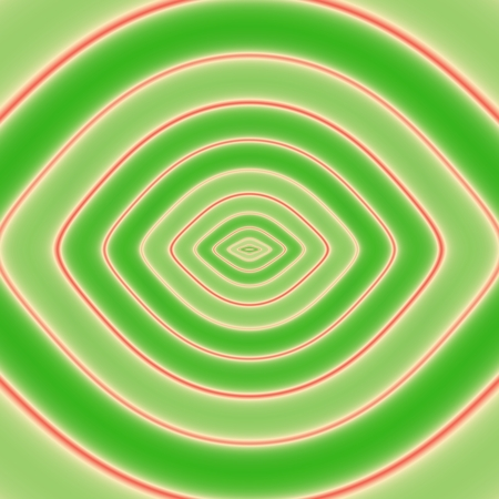 hintergrund gr�n gelb: Abstrakt Kachelbarer gr�n gelb rot Konturlinien symmetrisches Muster