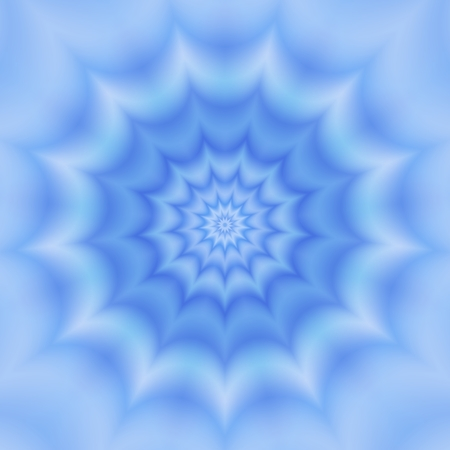 Blue monochromatic abstract fractal flower Stock Photo