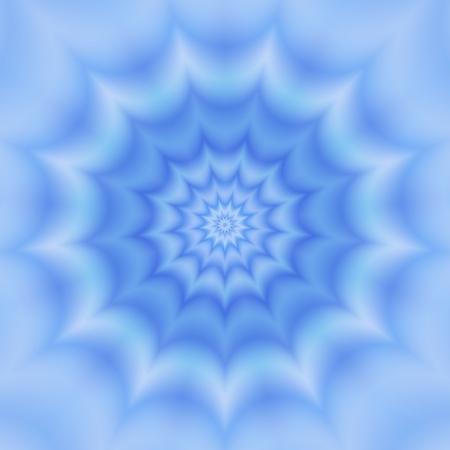 monochromatic: Blue monochromatic abstract fractal flower Stock Photo