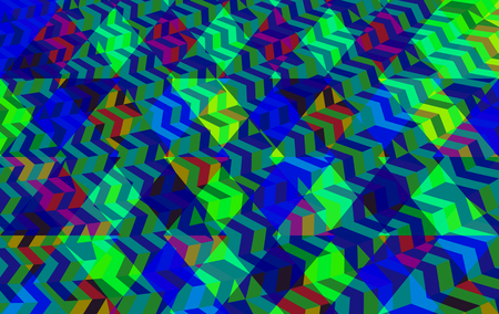sidebar: Abstract geometric blue green low poly background in op art style Stock Photo