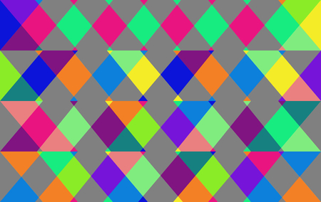 Abstract blue green gray yellow orange pink geometric low poly background in op art style