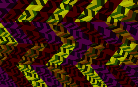 sidebar: Abstract purple yellow brown gray geometric low poly background in op art style Stock Photo