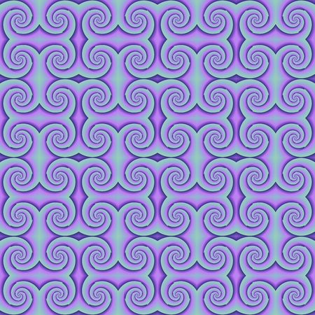 ruche: Purple mosaic with spiral shapes Stock Photo