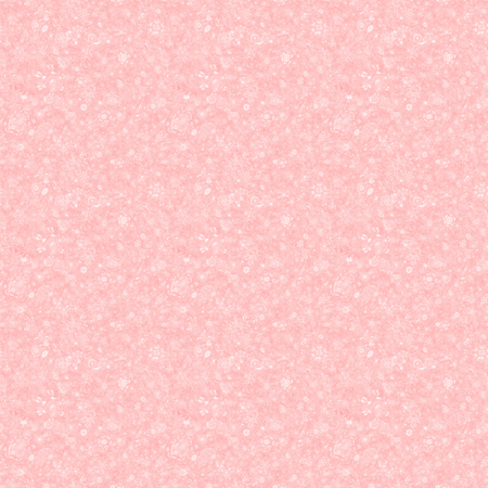 Digitally rendered frost and ice flowers on light red background - seamless pattern Stock Photo