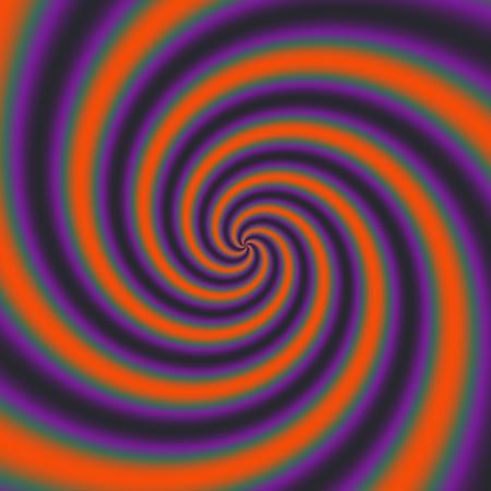 Orange purple abstract spiral background