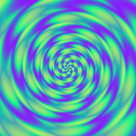 Abstract purple green concentric centralized psychedelic spiral