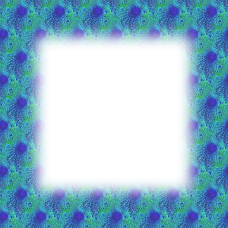 lining: Blue fractal border with blurred edge lining the white clear area