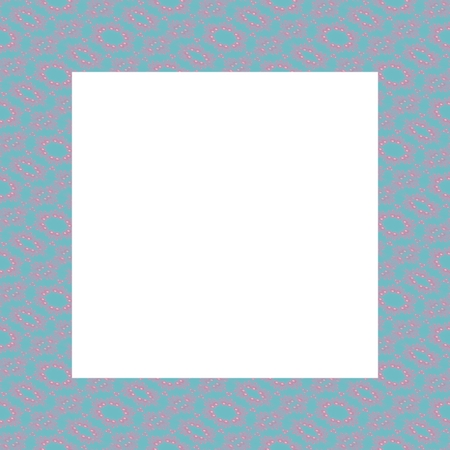 photoframe: Abstract decorative blue pink photoframe - digitally rendered design