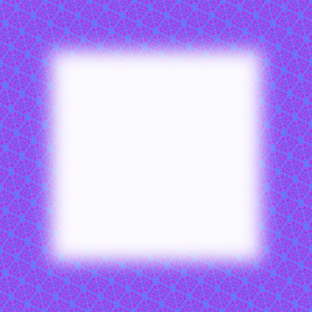 lining: Purple fractal border with blurred edge lining the white clear area Stock Photo