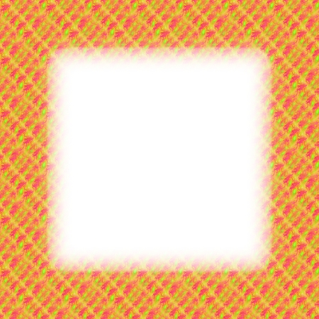 lining: Orange fractal border with blurred edge lining the white clear area Stock Photo