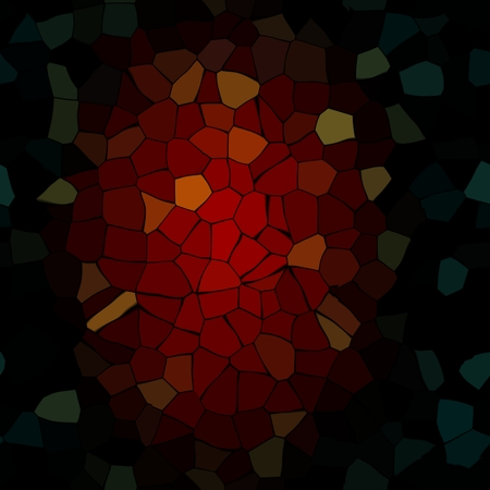 breakage: Abstract irregular red black fly open mosaic - digitally rendered pattern Stock Photo