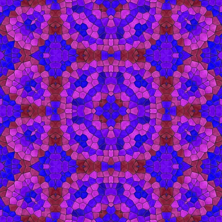 the computer generated: Red pink purple retro computer generated kaleidoscope mosaic pattern Stock Photo