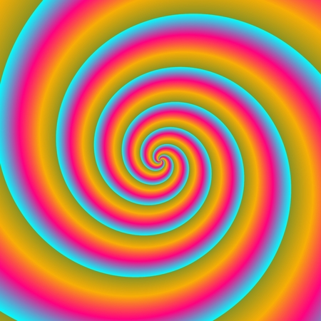 optimistic: Blue red yellow optimistic spiral