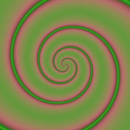 charming: Pink and green charming spiral - digitally rendered pattern Stock Photo