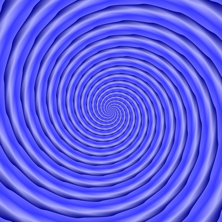 cochlear: Dense spiral in blue shades - computer generated monochromatic pattern