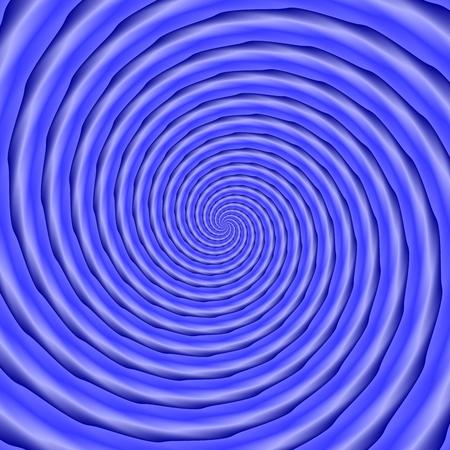 monochromatic: Dense spiral in blue shades - computer generated monochromatic pattern