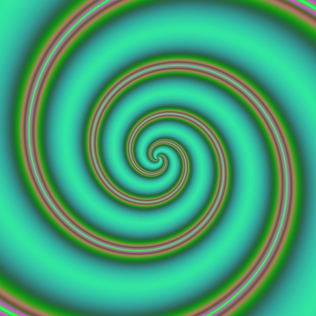 kinetic: Modern green decorative spiral with two red lines