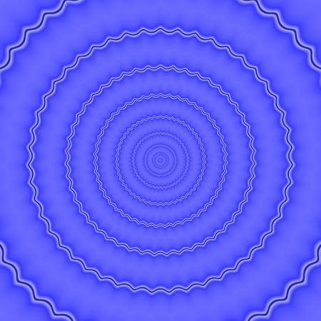regular: Regular corrugated concentric monochrome blue rounds