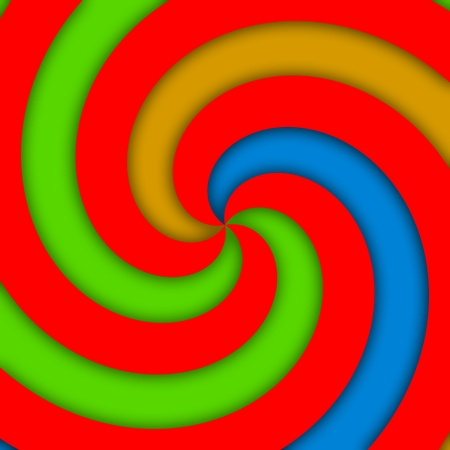 centralized: Red green blue yellow centralized radiant spiral pattern