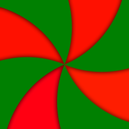 rosso verde: Red green vane abstract pattern