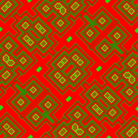technological: Yellow green red retro technological seamless pattern