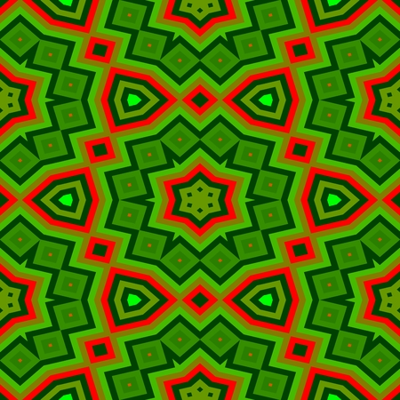 green and red: Retro green red decorative abstract seamless pattern