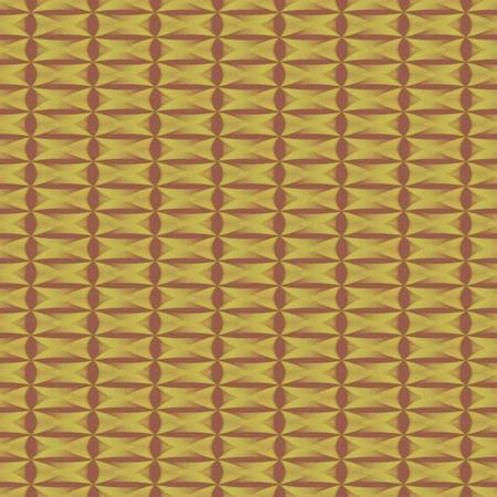 regular: Abstract geometric brown ocher decorative regular computer generated pattern Stock Photo
