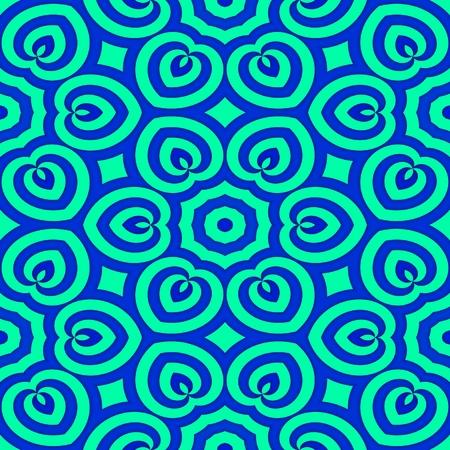 regular: Abstract seamless monochromatic decorative regular floral kaleidoscopic pattern
