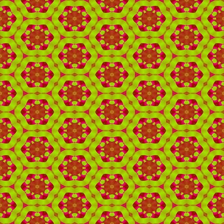 secession: Abstract decorative floral seamless colorful wallpaper Stock Photo
