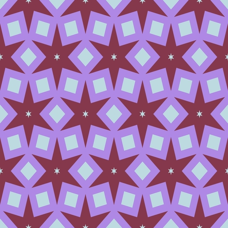 soiree: Abstract starry retro pink colorful pattern