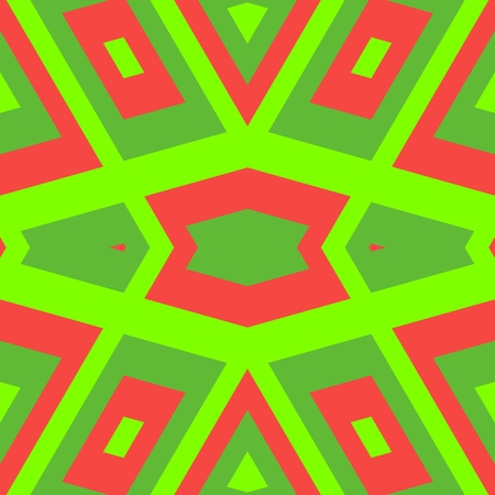 rosso verde: Abstract geometric red green pattern in cubist style