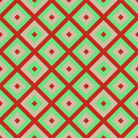 pink brown: Pink brown green retro grid pattern