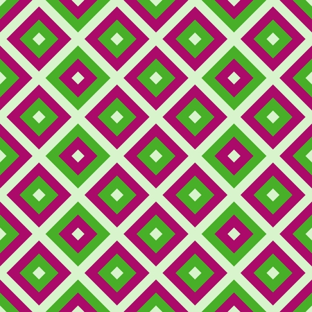 diagonally: Abstract green red beige diagonally checkered pattern Stock Photo