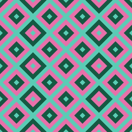 blue print: Turquoise green blue pink tileable geometric checkered seamless pattern Stock Photo