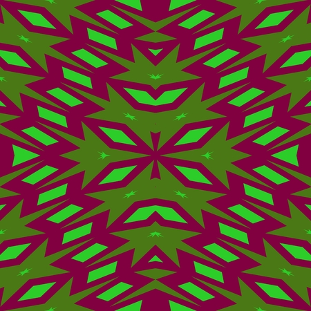 sidebar: Abstract red green kaleidoscopic pattern