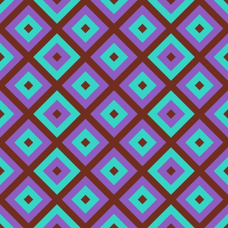 oblique: Purple pink blue faded oblique checkered seamless pattern Stock Photo