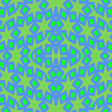 Abstract starry blue turquoise green pattern