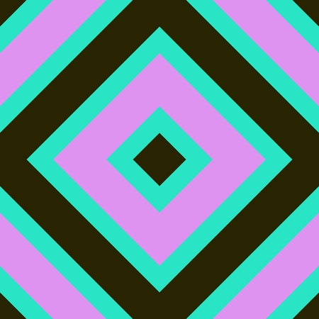 backcloth: Pink turquoise khaki abstract cubist rhombus pattern
