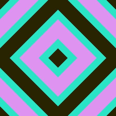 Pink turquoise khaki abstract cubist rhombus pattern