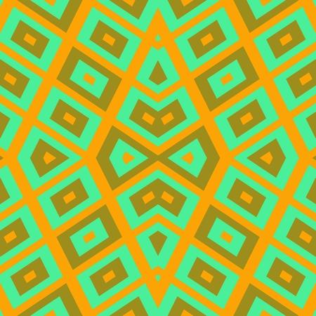 regular: Abstract geometric regular mirroring ocher green pattern - digitally rendered background
