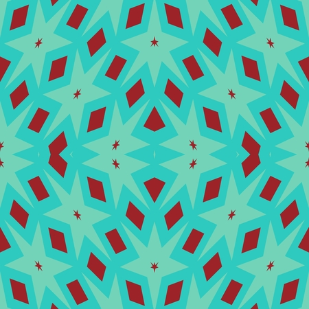 Unpleasant blue red regular mirroring geometric pattern
