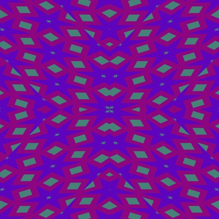 Unpleasant purple regular mirroring geometric pattern Stock Photo
