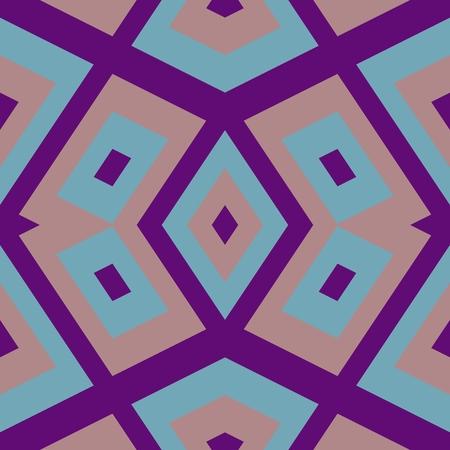 blue rose: Purple blue rose geometric kaleidoscopic pattern in oriental style